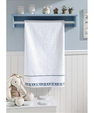 Toalha de Banho Para Bordar Dohler Baby Kids - 70 x 115 cm - FJ-6240 A/Branco