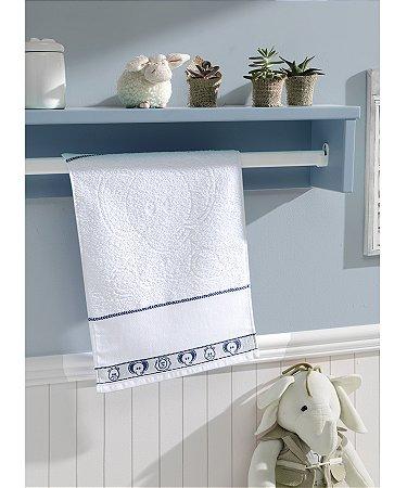Toalha de Lavabo Para Bordar Dohler Baby Kids - 30 x 45 cm - FJ-6240 A/Branco