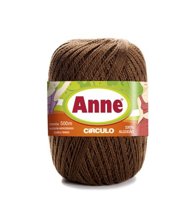 Linha Anne 500 Circulo - Cor 7382 - CHOCOLATE