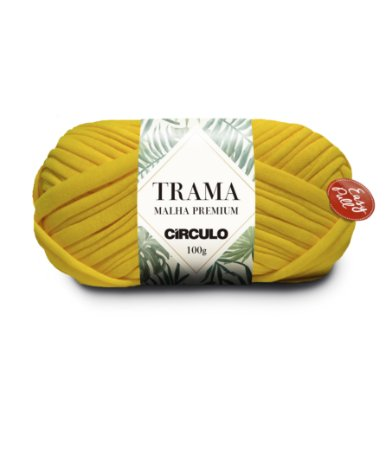 Fio Trama Malha Premium Círculo Cor - 1289 - CANÁRIO