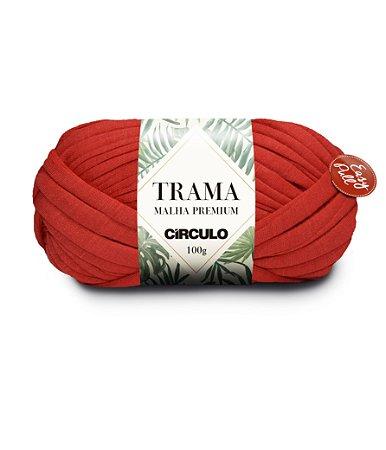Fio Trama Malha Premium Círculo Cor - 3528 - CARMIM