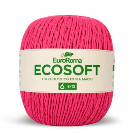 Barbante Ecosoft Euroroma - 8/12   452m Cor 550 - Pink