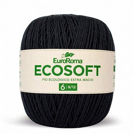 Barbante Ecosoft Euroroma - 8/12 | 452m Cor 250 - Preto