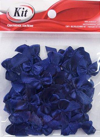 Laço de Cetim N.2 REF YY004 - Azul Marinho - Pacote Com 50 Unidades