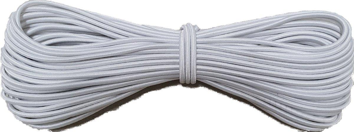 Elástico Roliço Branco 10R São José | 2,5 mm - Peça com 10 Metros