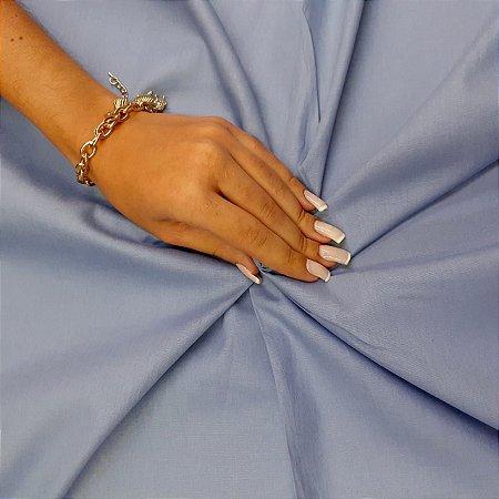 Tecido Tricoline Liso Azul Jeans 100% Algodão - 1,00x1,50m