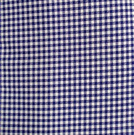 Tecido Tricoline Estampado Xadrez Azul Marinho 100% Algodão - COR 147 - 1,00x1,50m