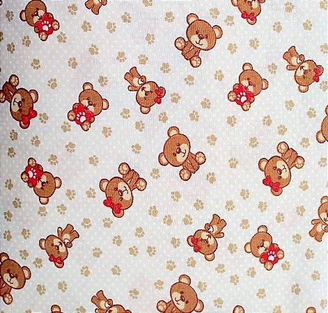 Tecido Tricoline Estampado Urso 100% Algodão - COR 152 - 1,00x1,50m