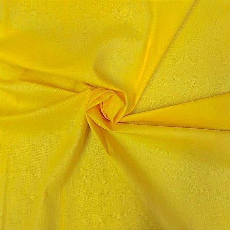 Tecido Tricoline Liso Amarelo 100% Algodão - 1,00x1,50m