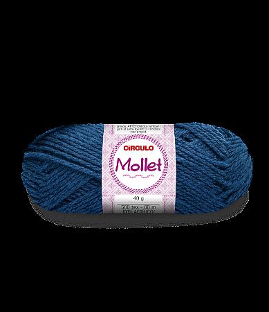 Lã Mollet 40g Cor - 2770 - AZUL CLÁSSICO