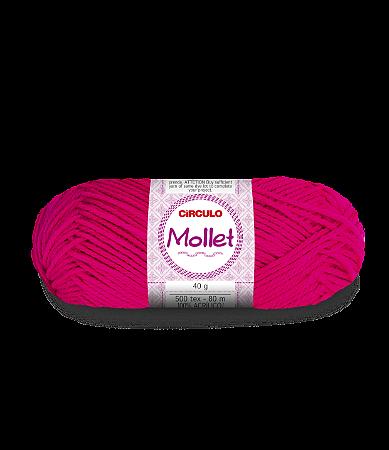 Lã Mollet 40g Cor - 390 - MAGENTA