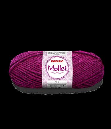 Lã Mollet 40g Cor - 3914 - FIBRA NEGRA