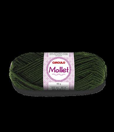 Lã Mollet 40g Cor - 447 - MILITAR