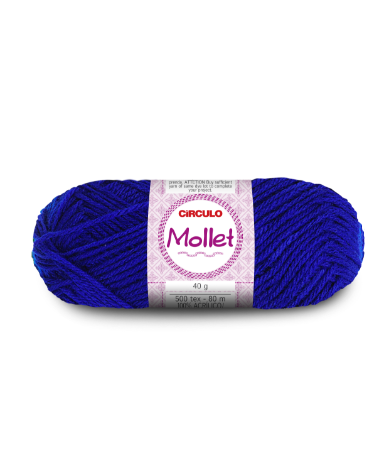 Lã Mollet 40g Cor - 512 - AZUL BIC