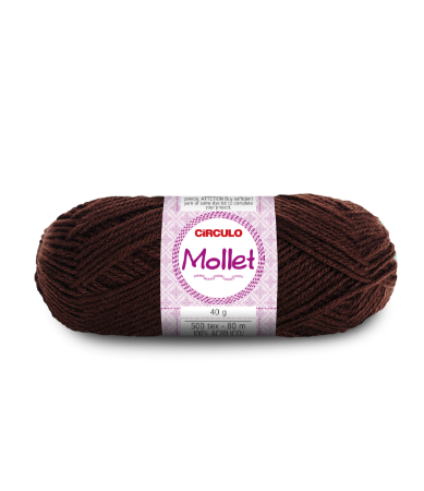 Lã Mollet 40g Cor - 608 - CHOCOLATE
