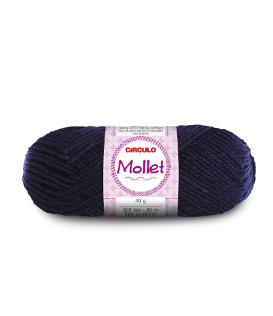Lã Mollet 40g Cor - 640 - MARINHO