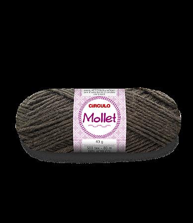 Lã Mollet 40g Cor - 7947 - FIBRA NEGRA