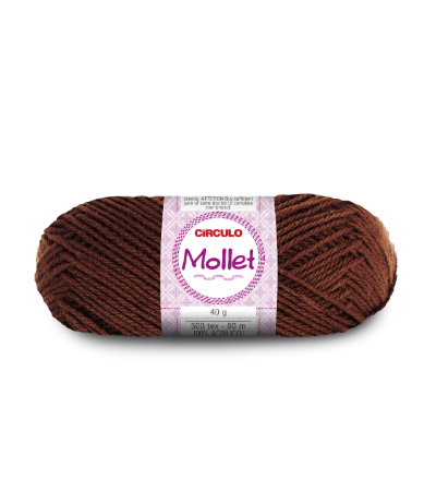 Lã Mollet 40g Cor - 850 - CASTANHO