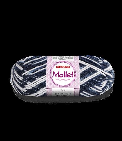 Lã Mollet 40g Cor - 9016 - ZEBRA