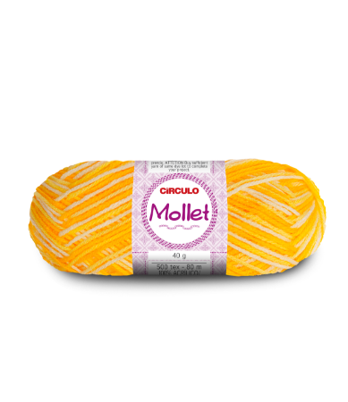 Lã Mollet 40g Cor - 9368 - RAIO DE SOL