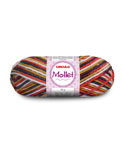 Lã Mollet 40g Cor - 9662 - BURBERRY