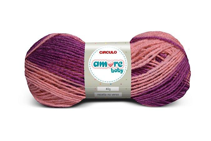 Lã Amore Baby 40g Cor - 9809 - FRAMBOESA