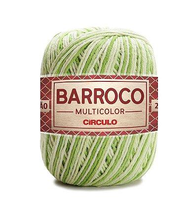 Barbante Barroco Multicolor N.6 200g Cor 9384 - GREENERY