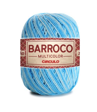 Barbante Barroco Multicolor N.6 200g Cor 9113 - CASCATA