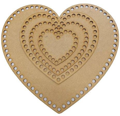 Base de MDF Coração Para Maxi Crochê