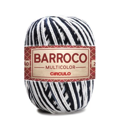 Barbante Barroco Multicolor N.6 200g Cor 9016 - ZEBRA