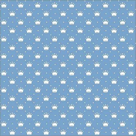 Tecido Tricoline Peripan Estampado Coroas 100% Algodão 100x150cm - COR 194