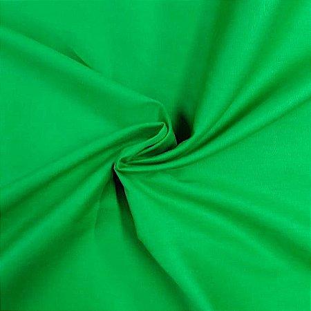 Tecido Tricoline Liso Verde Bandeira 100% Algodão - 1,00x1,50m