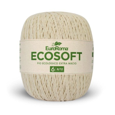 Barbante Ecosoft Euroroma - 8/12 | 452m Cru