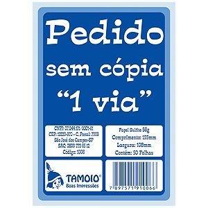 PEDIDO SEM CÓPIA 1 VIA TAMOIO 108 X 155 MM
