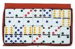 A - jogo de dominó colorido rio master c/ 28 peças