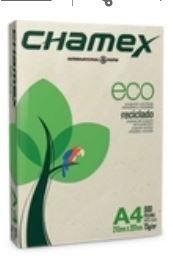 PAPEL SULFITE CHAMEX RECICLADO A4 210 X 297 C/ 500 FLS