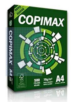Papel A4 copimax branco 75 grs 500 fls suzano