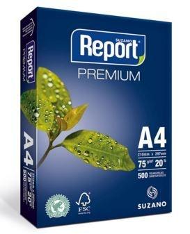 A- PAPEL SULFITE REPORT 210 X 297 75 GRS PACOTE C/ 500FLS