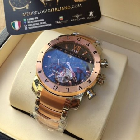 d14397212ca RELÓGIO BVLGARI MISTO ROSÊ TXDPXXP5J - Meu Relógio Italiano
