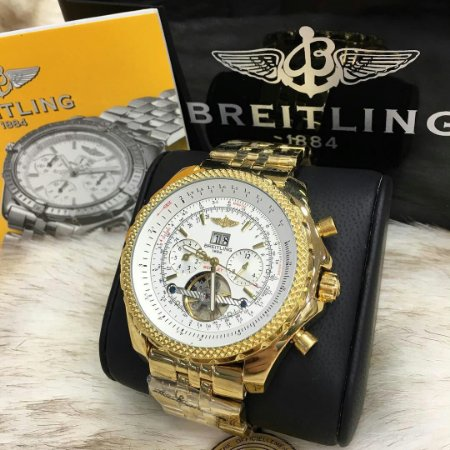 BREITLING BENTLEY TOURBILION GOLD WHITE