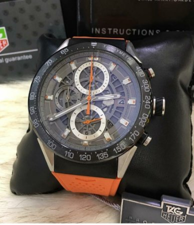a2eb5f59ef0 TAG HEUER SKELETON ORANGE - Meu Relógio Italiano