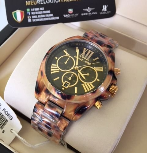 Relógio Michael Kors Mk5904 Tortoise NC5FZ9WSA