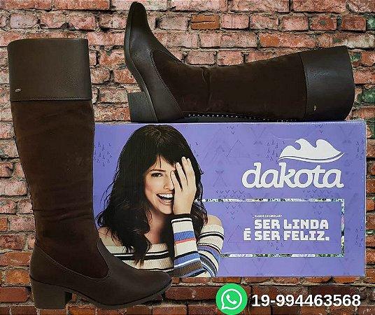 Bota Dakota café até o joelho