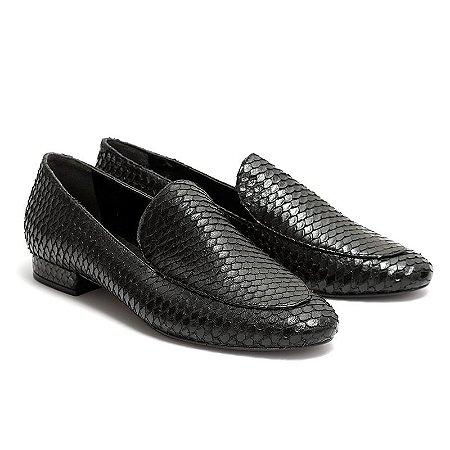 Loafer Preto Escamas