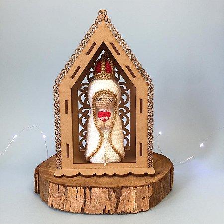 Nossa Senhora de Fátima com Casinha