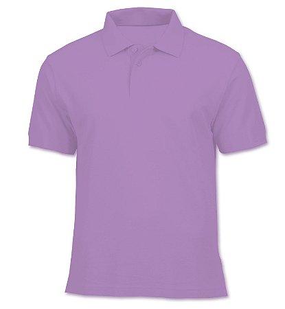 Polo em Piquet Masculina - Lilás - KG Camisetas Personalizadas 4e23a4146b561