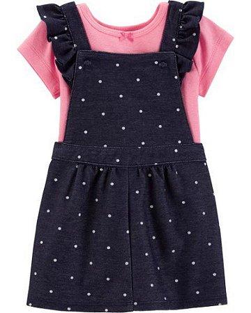 Jardineirinha estilo vestido da Carter's