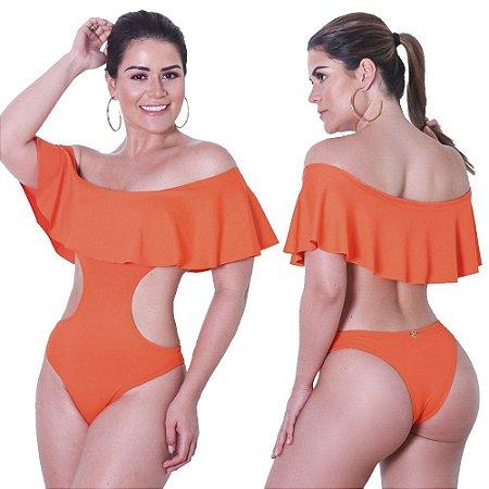 Maio engana mamae ombro a ombro laranja