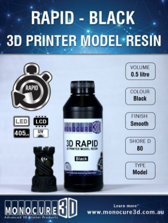 Monocure DLP - Black - 500Ml - Resina para impressora 3D