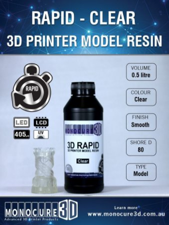 Monocure DLP - Clear - 500Ml - Resina para impressora 3D